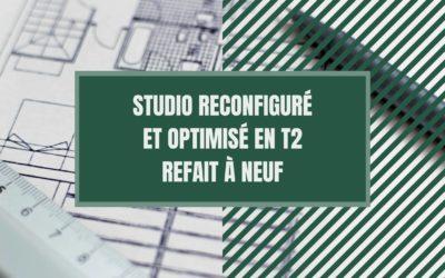 Studio reconfiguré en optimisé en T2 refait à neuf